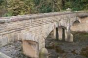 Bridge over spillway, More Hall Reservoir