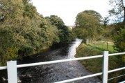 River Nairn near Clava Lodge Hotel
