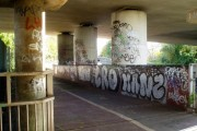 The Parkway undercroft with attending graffiti vandalism