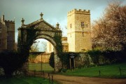 Chastleton House, gateway and church