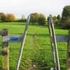 A modern stile at Lockleaze playing fields