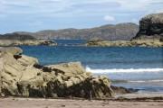 View from Clashnessie Beach towards Oldany Island