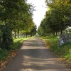 Lane and public footpath