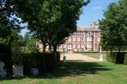 Ham House from hedge garden.
