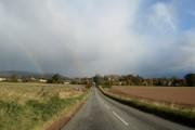 Approaching Fettercairn from Edzell