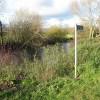 Start of a riverside footpath