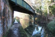 Skew railway bridge