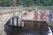 Bridge over the spillway, Moor Hall Reservoir