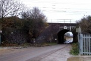 Bridego Bridge - Great Train Robbery Site - View eastwards