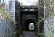 Footpath bridge under railway