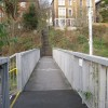 Footbridge connecting Montpelier station to Cromwell road