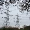 Power pylons near Campsea Ashe