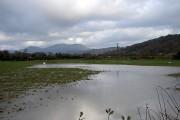 Flooded fields at Glan-y-wern