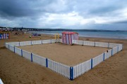 Deserted crazy golf on Weymouth beach