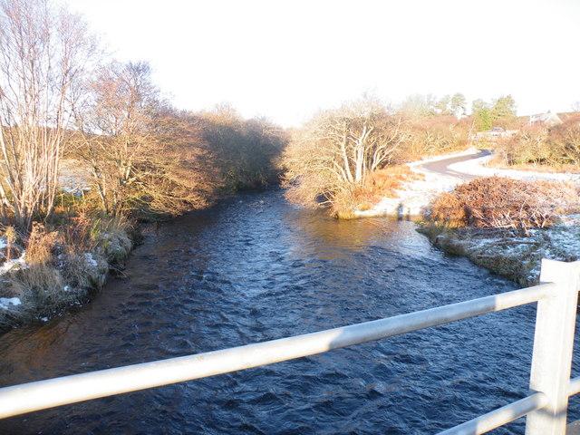 Winter Sun on River Evelix near Rearquhar