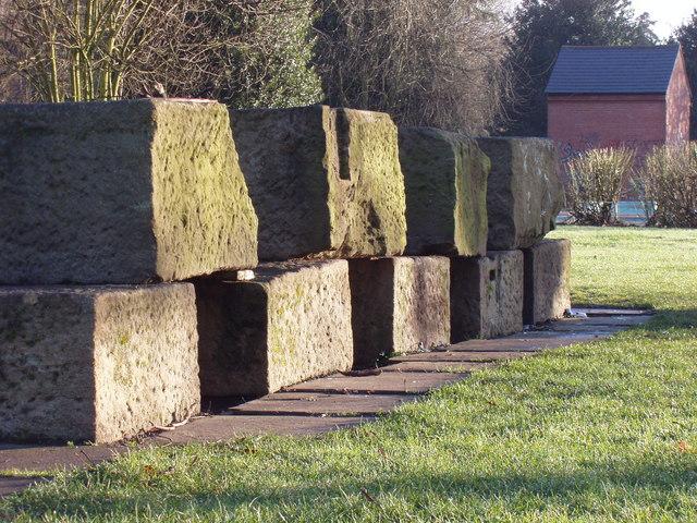 Leamington Victoria park rock stack