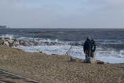 Felixstowe beach in winter