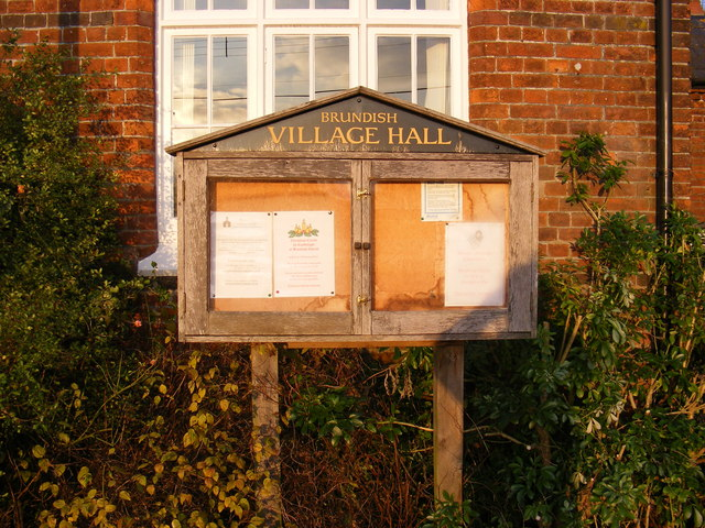 Brundish Village Hall notice board
