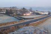 Gawthwaite village and the A5092