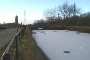 Site of railway swing bridge