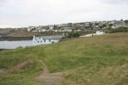 The village of Porthllechog/Bull Bay from the coastal path above Trwyn Melyn point