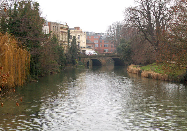 River Leam in Leamington Spa