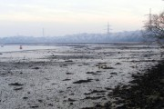 Low tide on the shore of the River Test