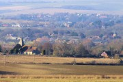 Rodmell, Iford and Kingston from Itford Hill, Southease