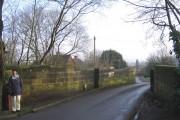 Hewell Lane bridge over Railway line.