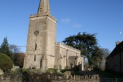 St. Faith's Shellingford in January sunshine