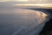 Bridlington  Bay  from  clifftop  at  Dusk