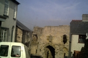 Denbigh old town gate near the castle