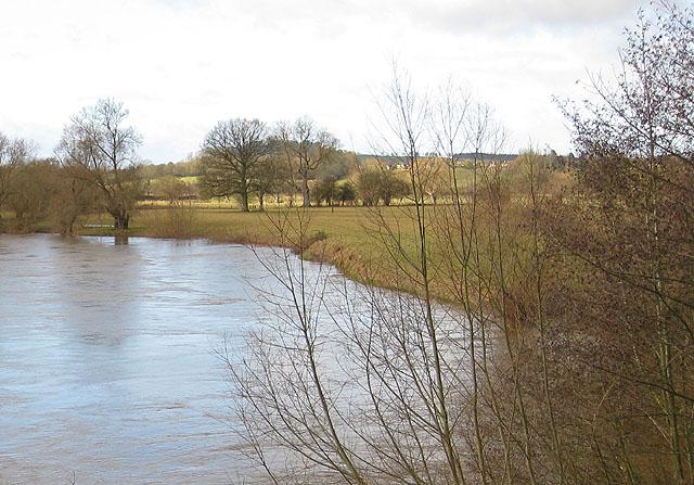 River Wye in flood