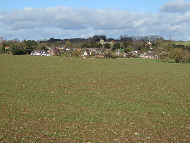 View of Burghill from the south