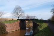 Creech St. Michael: footbridge over the canal