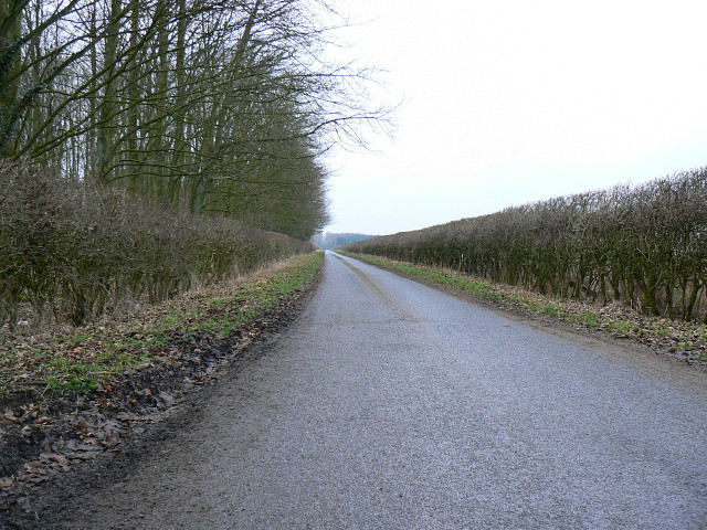 The road to Down Ampney