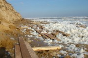 Wood and foam on Covehithe beach