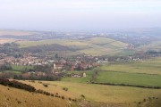 Kingston near Lewes from Swanborough Hill