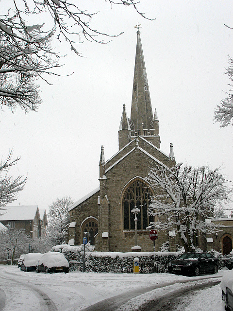 St John's church in the snow