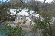 Durgan village in a very rare covering of snow