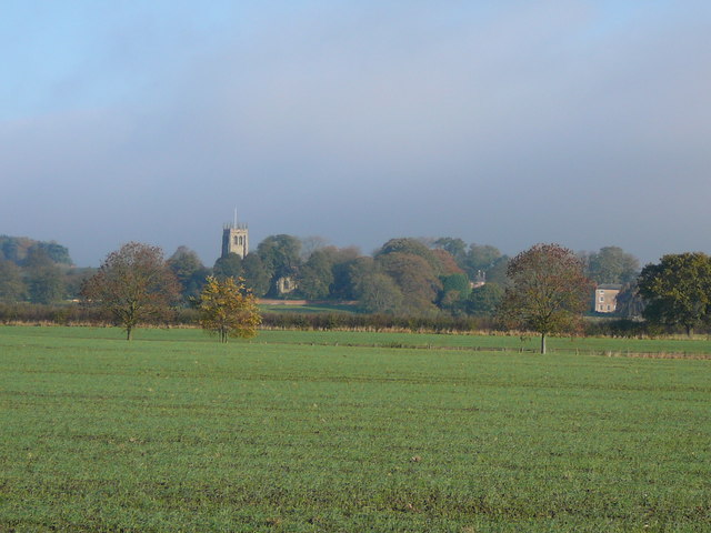 Agricultural land on the edge of Newthorpe.
