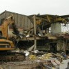 Factory on Limestone road being demolished
