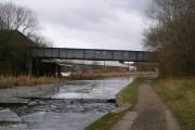 Disused railway bridge across the canal