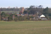 View of Charsfield across the fields