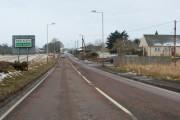 Kirriemuir / Blairgowrie Road, entering New Alyth
