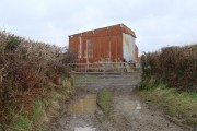 Old corrugated iron farm building