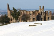 Houghton House in the Snow