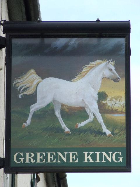 The White Horse Pub Sign