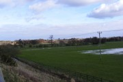 Waterlogged farmland, Wickham Market