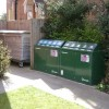 Recycling bins for flats, Emscote Road, Warwick